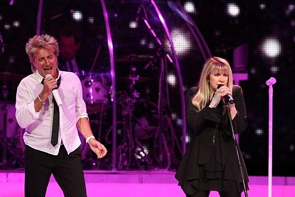 Stevie Nicks and Rod Stewart