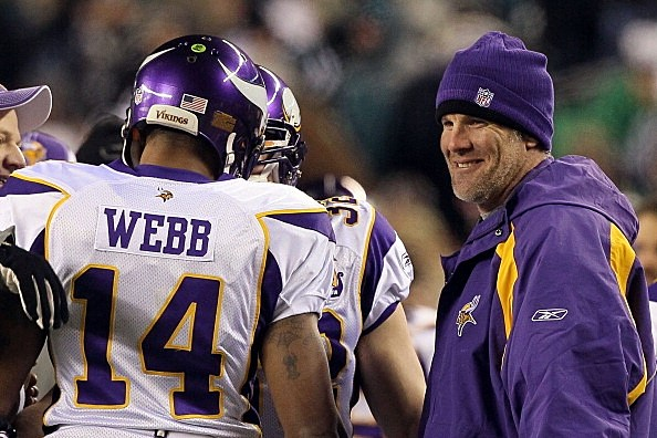 Brett Favre and Joe Webb